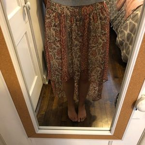 High low Urban Outfitters skirt